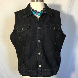 XL Cristopher Banks black denim vest